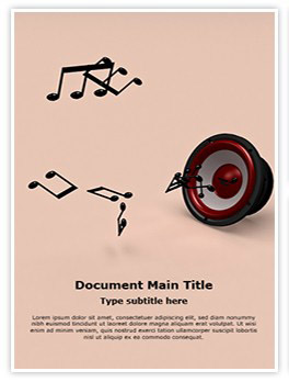 Music Notes Editable Word Template