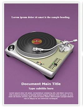 Turntable Editable Word Template