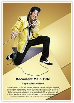 Style Elvis Presley Editable Word Template