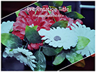 Artificial Flowers Editable Free Ppt Template