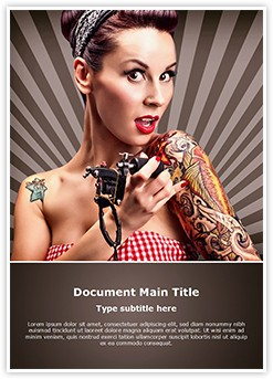 Tattoo Artist Editable Word Template