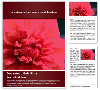 Dahlia Flower Free Word Template