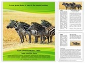 Equus Quagga Editable Word Template