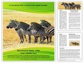 Equus Quagga Editable Word Template