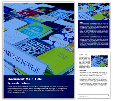 Book Fair Harvard Business School Free Word Template