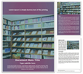 Bookshelves Library Free Word Template
