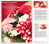 Bouquet Free Word Template