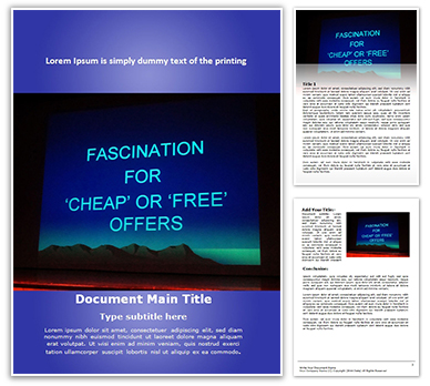 Business Offers Free Word Template
