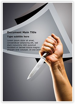 knife Killing Editable Word Template