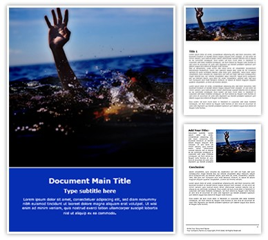 Drowning Free Word Template