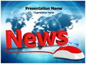 Online News Editable PowerPoint Template