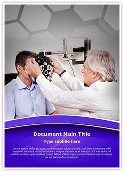 Ophthalmic Exam Editable Word Template