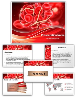 Blood Clotting PowerPoint Presentation Template With Editable Charts
