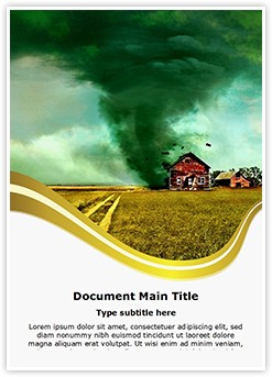 Tornado Editable Word Template