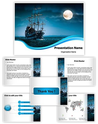 Pirate Ship Editable PowerPoint Template