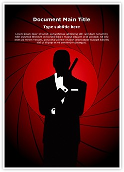 James Bond Editable Word Template