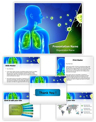 Lung Infection Editable PowerPoint Template