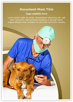 Veterinarian Editable Word Template