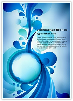 Blue Bubble Abstract Editable Word Template