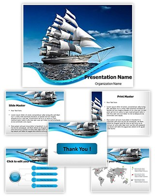 Ship With Sails Editable PowerPoint Template
