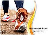 Running In Sport Shoes PowerPoint Templates