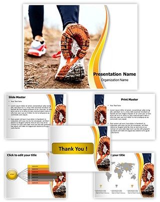 Running In Sport Shoes Editable PowerPoint Template