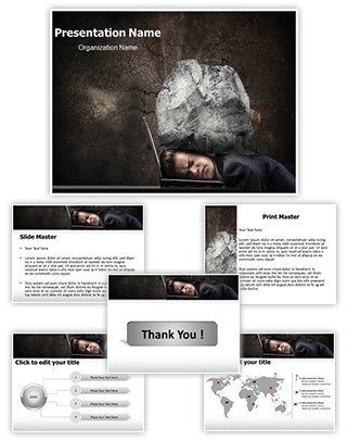 Stress Editable PowerPoint Template