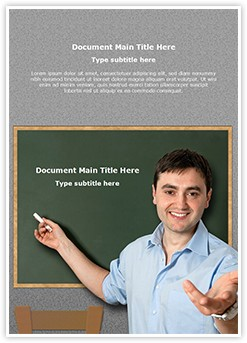Teacher Male Editable Word Template