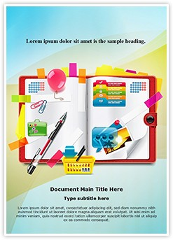Personal Organizer Planning Editable Word Template
