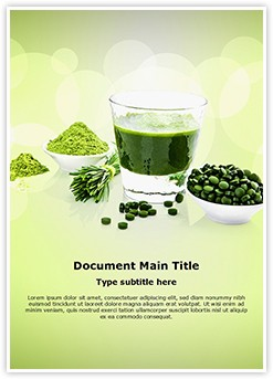 Antioxidants Food Editable Word Template