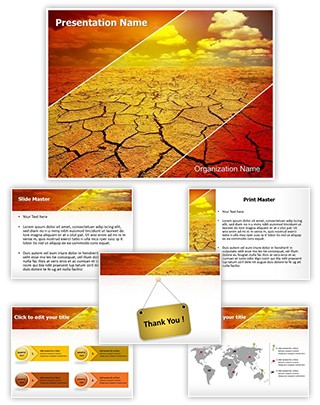 Drought Editable PowerPoint Template