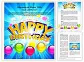 Happy Birthday Abstract Template