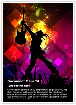 Rock concert Abstract Editable Word Template