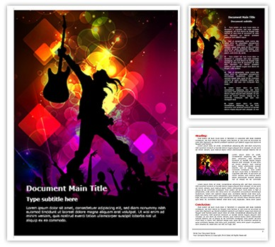 Rock concert Abstract Editable Word Document Template