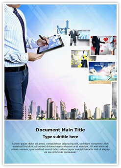 Hytech Businessman Editable Word Template