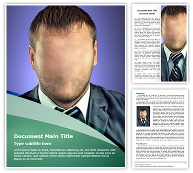 Manager Hidden Identity Editable Word Document Template