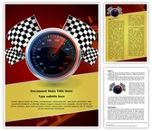Speedometer Editable Word Template