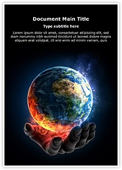 Global Warming Concept Editable Word Template