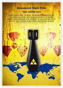 Radioactive Nuclear Threat Editable Word Template