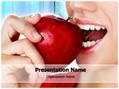 Teeth And Apple Editable PowerPoint Template