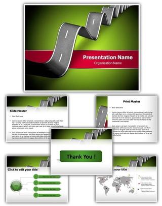 Tough Road Ahead Editable PowerPoint Template