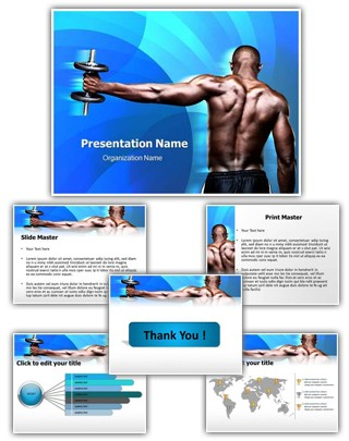 Body Builder Editable PowerPoint Template
