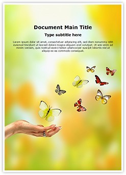 Butterfly Freedom Editable Word Template