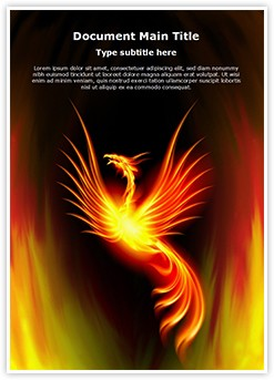 Rebirth Burning Phoenix Editable Word Template
