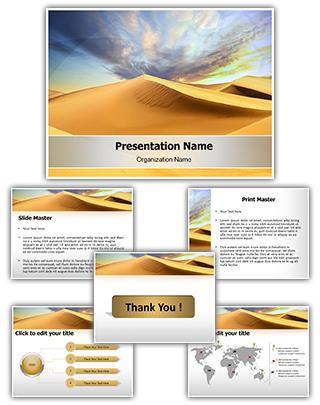 African Desert Editable PowerPoint Template