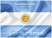 Argentina Flag Editable PowerPoint Template