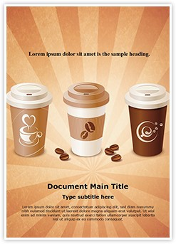 Starbucks Coffee Editable Word Template