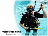 Scuba Diver Editable PowerPoint Template