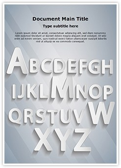 Typography Editable Word Template