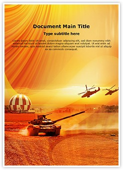 Army Operation Editable Word Template